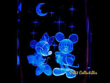 3 D LASER CRYSTAL DISNEY - Mickey and Minnie - +BASE