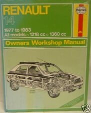 NEW HAYNES MANUAL RENAULT 14 0362