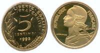 RARE MONNAIE DE 5 CENTIMES MARIANNE LAGRIFFOUL DE 1993 A 4 PLIS BE BELLE EPREUVE