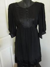 Ladies Morrissey Little Black Dress Size 2 Silk Flowing Light for Summer