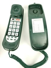 Vintage Touch Tone Brand Corded WallDesk Lighted Phone Telephone Forest Green