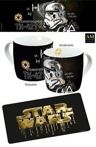 Taza & Tabla de Desalluno - Star Wars Soldado de Asalto & Logo - Nuevo/Emb.orig