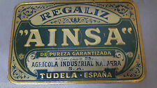 antigua placa metalica regaliz ainsa tudela navarra