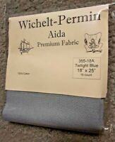 "Wichelt Imports PREMIUM Cross Stitch Fabric AIDA 16 ct 18"" X 25"" TWILIGHT BLUE"
