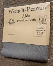 "Wichelt Imports Premium Cross Stitch Fabric Aida 16 ct 18"" X 25"" Twilight Blue"