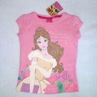 DISNEY t-shirt BELLE princesse 3 4 5 ou 6 ans LA BELLE ET LA BETE rose  NEUF