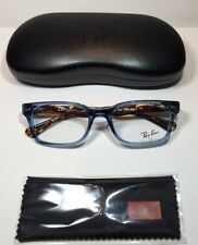 NEW RAY BAN RB5286 8024 Eyeglasses  SHINY TRANSPARENT BLUE  51-18-135 RX able