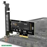 M.2 NVMe SSD Express Card M Key to PCIE 3.0 X4 Adapter External SSD Support