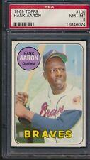 1969 Topps #110 Hank Aaron Braves PSA 8 NM-Mt HOF CENTERED!!