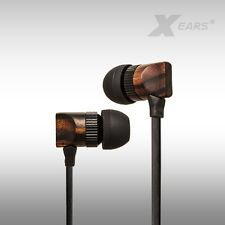 En Ear auriculares Xears ® nature xn4 precisamente por madera cable plano audio & HiFi