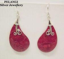 Coral Women Silver Asian Earrings