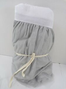 """Pottery Barn Kids Gold Dot Tulle Bed Skirt Twin 16"""" Drop Gray #8349"""