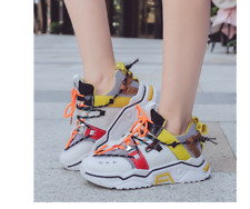 Women Shoes Platform Chunky Sneakers Lace-up Walking Fashion Designer