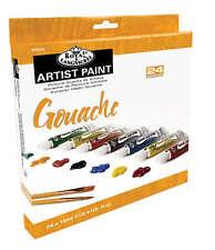 Royal langnickel Gouache - 24 x Neuropson tube de peinture-box set. couleurs assorties