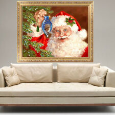 5D Diamond DIY Painting Father Christmas Embroidery Cross Stitch Home Wall Decor