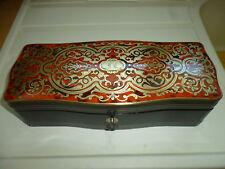 Boîte à gants coffret bois ancien marqueterie Boulle Napoléon III XIXème