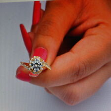 Beautiful 14 Carat Yellow Gold Ring With 2.90 Ct. Solitaire Diamond Size N 12