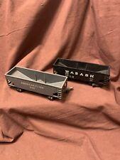 Vintage Pair Of American Flyer No. 940 & 640 Wabash Grain Cars