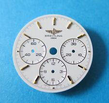 Genuine BREITLING 1990s Chronograph Cal.11 Lemania 1873 Ref.80520 Mens Dial NOS