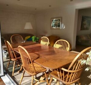 Solid Oak Dining Set/Extending Table/6Chairs/Courier/Pick Up/Will poss split set