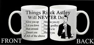 Rick Astley Meme Funny Mug Gift Birthday Never Gonna Give You Up Meme Rick Roll