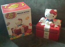 HELLO KITTY Jelly Belly Ceramic Gift Box Candy Dish Jelly Beans Exp 9/17 Defect