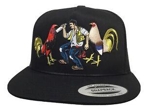 El borracho y sus gollos mexico federal 3 logos hat black mesh chapo Guzmán