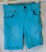 Boys TU Aqua Blue Denim Adjustable Waist Long Board Shorts Age 3 Years