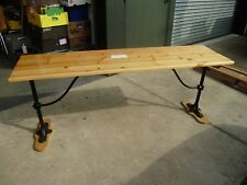 Refurbished Iron and Timber Table