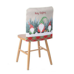 christmas chair covers Santa Claus Chair Back Covers Table Party Decor New Y P2