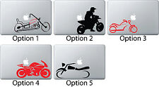Motorcycle Motorbike Sticker Apple Mac Book Air/Pro Dell Laptop Decal Vehicle 1