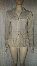 Bottega Elisa Cavaletti great taupe cotton faded shirt with cute buttons size M