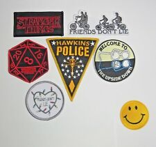 Stranger Things TV Series Embroidered Set of 6 PATCHES THESE ARE PREMIUM QUALITY