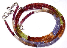 """1 STAND Natural  Multi color Garnet Faceted Rondelle Beads NECKLACE 3 - MM 15.5"""""""