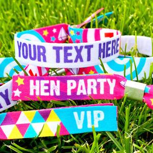 Personalised Hen Party Wristbands Custom Festival Wristband Henfest Glasthenbury