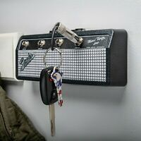 Pluginz Fender Jack Rack Key Holder Includes 4 Keychains - Guitar player gift