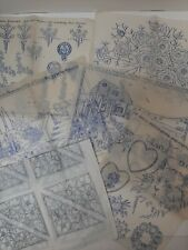 Vintage embroidery transfers x 6