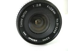ALBINAR  28mm 1:2.8  LENS for MINOLTA MD PERFECT GLASS SMOOTH FOCUS
