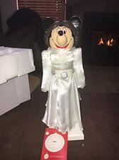 "NEW Disney Star Wars Leia Minnie Mouse Medium 14"" Nutcracker Christmas Figurine"