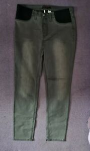 LADIES GREY STRETCH JEANS  SIZE 16 INSIDE LEG 31 INCHES