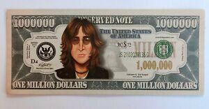 USA US 1 Million Dollar Bill Banknote Celebrity  Gospel  2/34 John Lennon