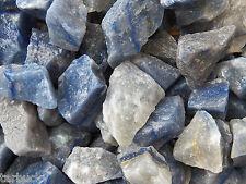 1/2 lb BLUE QUARTZ Brazil Bulk Tumbling Rough Rock Stones Healing Crystals FS