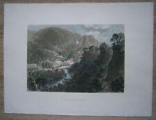 1840 Bartlett print MATLOCK BATH, DERBYSHIRE, ENGLAND (#57)