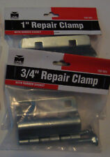 """Pipe Repair Clamp Kit (1) 3/4"""" and (1) 1"""" Iron Pipe New Free Shipping"""