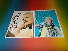 2 x  Ina Müller Inas Nacht sexy signiert signed Autogramm auf Autogrammkarte