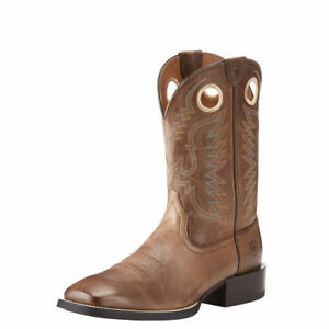 """Ariat 10023196 Sport Ranger 11"""" Wide Square Toe Western Cowboy Riding Boots"""