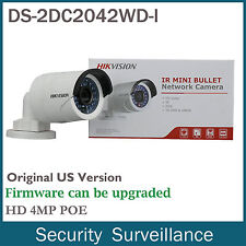 HIKVISION Original  DS-2CD2042WD-I 4MP PoE HD 4mm WDR Outdoor Network IP Camera