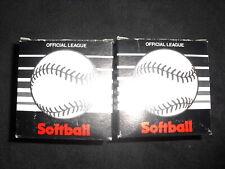 Teamworld Softball Poly X Core Leather Softball Vintage Lot Of 2 Brand New