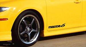 "MAZDA 6 Logo Mazdaspeed Wagon Racing Car Decal sticker emblem (PAIR) *12 Colors"""