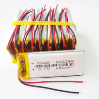 10 pcs 3.7V 650mAh Li-Polymer Battery lipo 602248 For cell phone MP3 DVD GPS PAD
